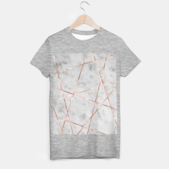 Thumbnail image of White Marble Rose Gold Geo Glam #2 #geo #decor #art T-Shirt regulär, Live Heroes