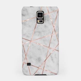 Thumbnail image of White Marble Rose Gold Geo Glam #2 #geo #decor #art Handyhülle für Samsung, Live Heroes