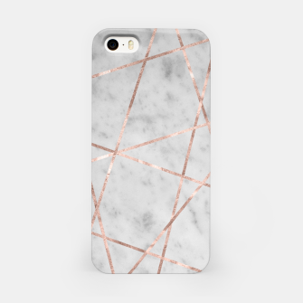 Miniaturka White Marble Rose Gold Geo Glam #2 #geo #decor #art iPhone-Hülle, Live Heroes