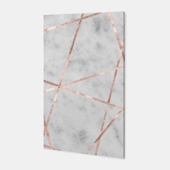 Miniaturka White Marble Rose Gold Geo Glam #2 #geo #decor #art Canvas, Live Heroes