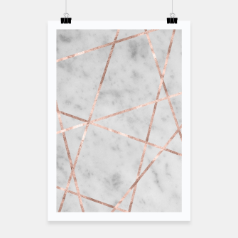 Thumbnail image of White Marble Rose Gold Geo Glam #2 #geo #decor #art Plakat, Live Heroes