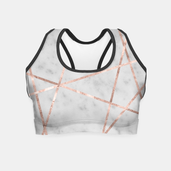 Miniaturka White Marble Rose Gold Geo Glam #2 #geo #decor #art Crop Top, Live Heroes