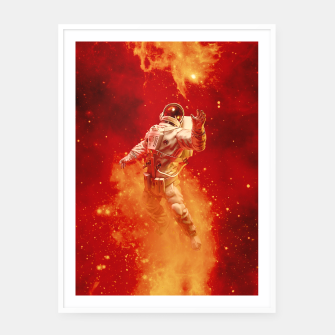 Thumbnail image of Heaven In My Reach Astronaut Framed poster, Live Heroes