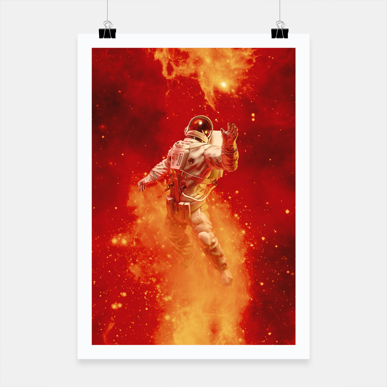 Image of Heaven In My Reach Astronaut Poster - Live Heroes