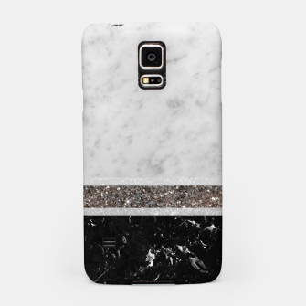 Thumbnail image of White and Black Marble Silver Glitter Stripe Glam #1 #minimal #decor #art  Handyhülle für Samsung, Live Heroes