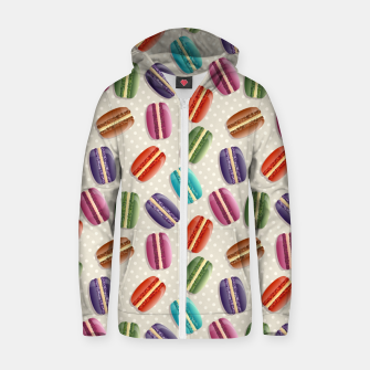 Thumbnail image of Macarons Zip up hoodie, Live Heroes