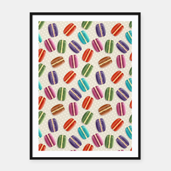 Thumbnail image of Macarons Framed poster, Live Heroes