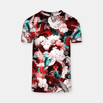 Thumbnail image of hummingbird paradise ethereal autumn flower pattern 2s T-shirt, Live Heroes