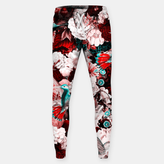 Thumbnail image of hummingbird paradise ethereal autumn flower pattern 2s Sweatpants, Live Heroes