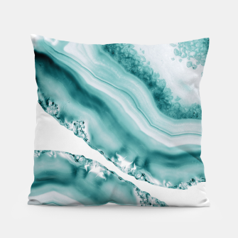 Thumbnail image of Soft Turquoise Agate #1 #gem #decor #art  Kissen, Live Heroes