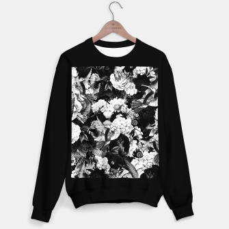Thumbnail image of hummingbird paradise ethereal autumn flower pattern bw Sweater regular, Live Heroes