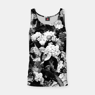 Thumbnail image of hummingbird paradise ethereal autumn flower pattern bw Tank Top, Live Heroes