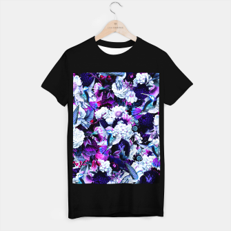 Thumbnail image of hummingbird paradise ethereal autumn flower pattern c80 T-shirt regular, Live Heroes