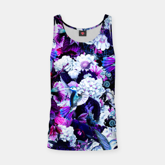 Thumbnail image of hummingbird paradise ethereal autumn flower pattern c80 Tank Top, Live Heroes