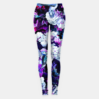 Miniature de image de hummingbird paradise ethereal autumn flower pattern c80 Leggings, Live Heroes