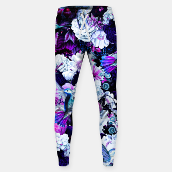 Thumbnail image of hummingbird paradise ethereal autumn flower pattern c80 Sweatpants, Live Heroes