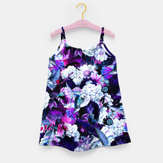 Thumbnail image of hummingbird paradise ethereal autumn flower pattern c80 Girl's dress, Live Heroes
