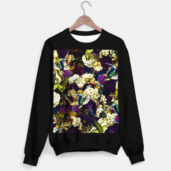 Thumbnail image of hummingbird paradise ethereal autumn flower pattern fn Sweater regular, Live Heroes