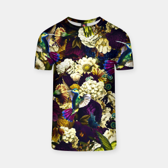 Thumbnail image of hummingbird paradise ethereal autumn flower pattern fn T-shirt, Live Heroes