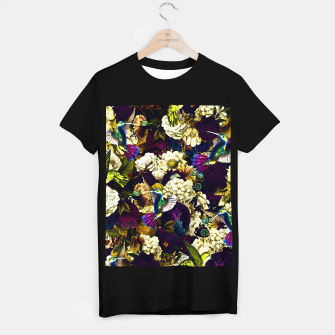 Thumbnail image of hummingbird paradise ethereal autumn flower pattern fn T-shirt regular, Live Heroes