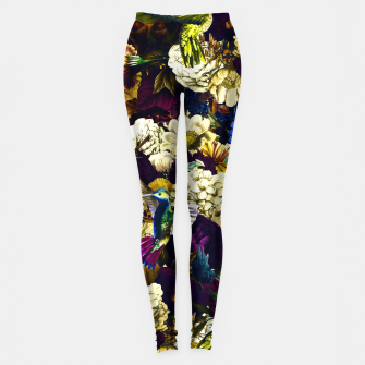 Miniature de image de hummingbird paradise ethereal autumn flower pattern fn Leggings, Live Heroes