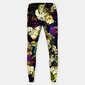 Thumbnail image of hummingbird paradise ethereal autumn flower pattern fn Sweatpants, Live Heroes