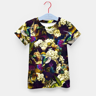 Thumbnail image of hummingbird paradise ethereal autumn flower pattern fn Kid's t-shirt, Live Heroes