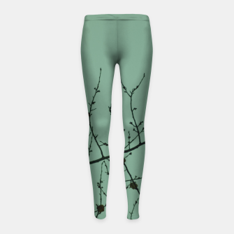 Thumbnail image of Branches and leaves Girl's leggings, Live Heroes