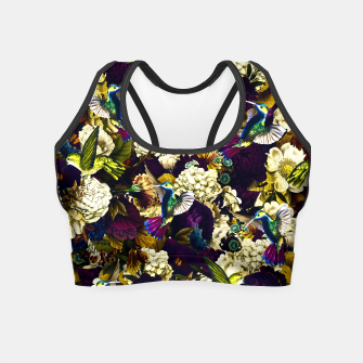 Thumbnail image of hummingbird paradise ethereal autumn flower pattern fn Crop Top, Live Heroes