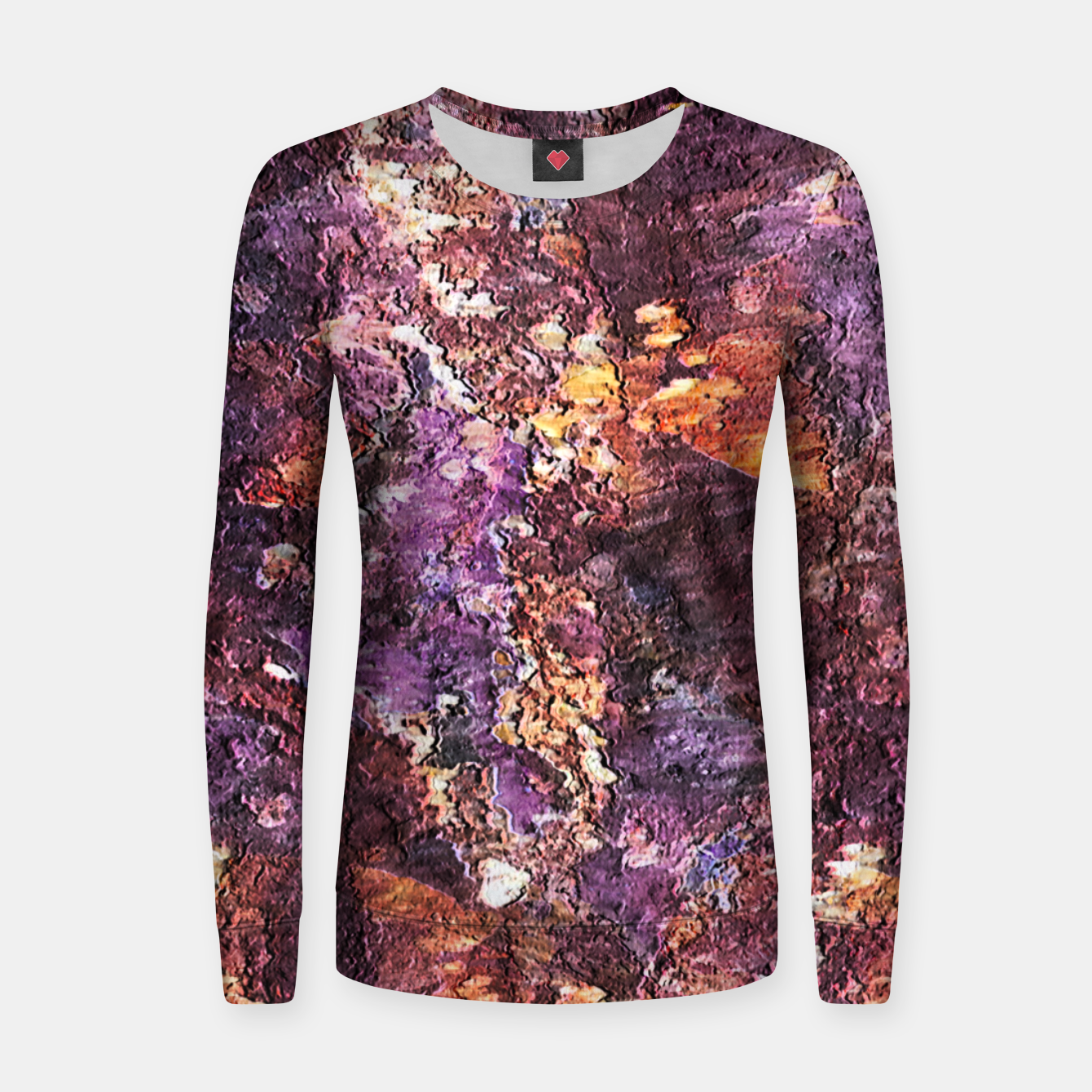Zdjęcie Colorful Rusty Abstract Print Women sweater - Live Heroes