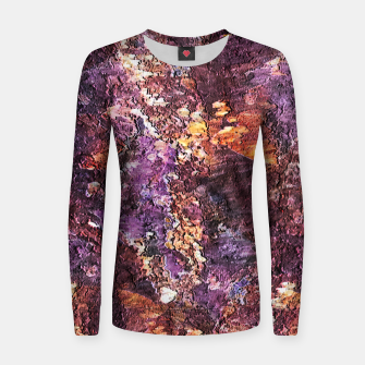 Colorful Rusty Abstract Print Women sweater obraz miniatury