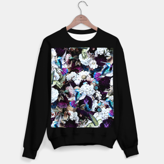 Thumbnail image of hummingbird paradise ethereal autumn flower pattern nfd Sweater regular, Live Heroes