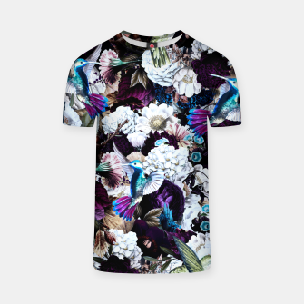 Thumbnail image of hummingbird paradise ethereal autumn flower pattern nfd T-shirt, Live Heroes