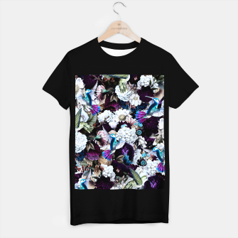 Thumbnail image of hummingbird paradise ethereal autumn flower pattern nfd T-shirt regular, Live Heroes