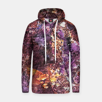 Colorful Rusty Abstract Print Hoodie obraz miniatury