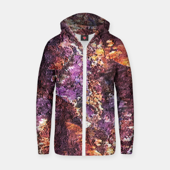 Colorful Rusty Abstract Print Zip up hoodie obraz miniatury