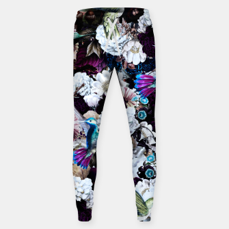 Thumbnail image of hummingbird paradise ethereal autumn flower pattern nfd Sweatpants, Live Heroes