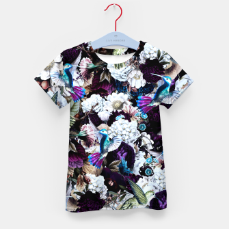 Thumbnail image of hummingbird paradise ethereal autumn flower pattern nfd Kid's t-shirt, Live Heroes