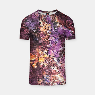 Colorful Rusty Abstract Print T-shirt obraz miniatury