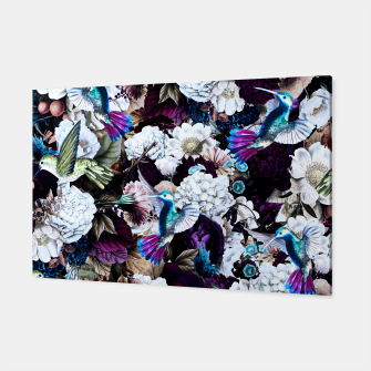 Thumbnail image of hummingbird paradise ethereal autumn flower pattern nfd Canvas, Live Heroes