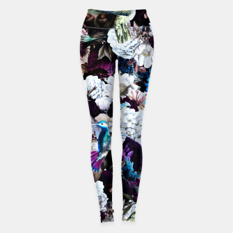 Thumbnail image of hummingbird paradise ethereal autumn flower pattern nfd Leggings, Live Heroes