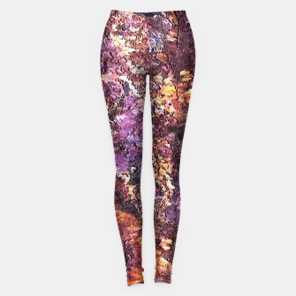 Miniature de image de Colorful Rusty Abstract Print Leggings, Live Heroes