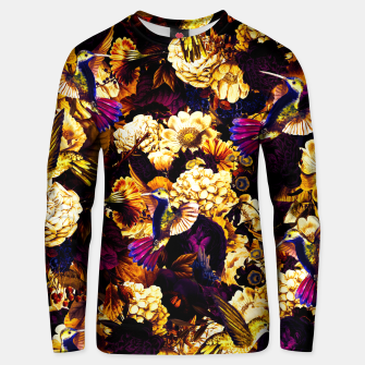 hummingbird paradise ethereal autumn flower pattern ls Unisex sweater thumbnail image