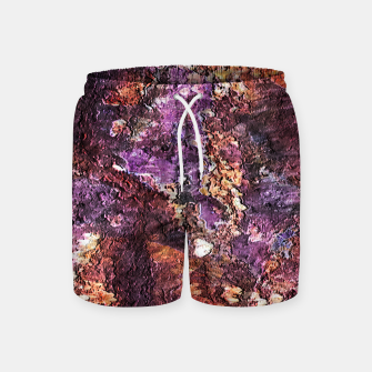 Colorful Rusty Abstract Print Swim Shorts obraz miniatury