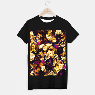 hummingbird paradise ethereal autumn flower pattern ls T-shirt regular thumbnail image