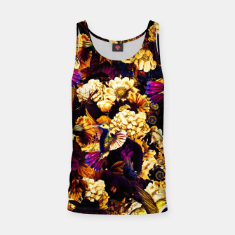 hummingbird paradise ethereal autumn flower pattern ls Tank Top miniature