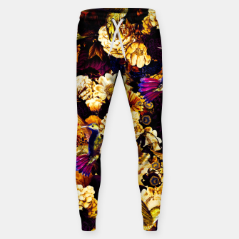 hummingbird paradise ethereal autumn flower pattern ls Sweatpants miniature