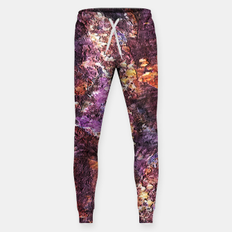 Colorful Rusty Abstract Print Sweatpants obraz miniatury