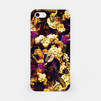 hummingbird paradise ethereal autumn flower pattern ls iPhone Case thumbnail image