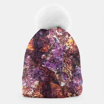 Colorful Rusty Abstract Print Beanie obraz miniatury